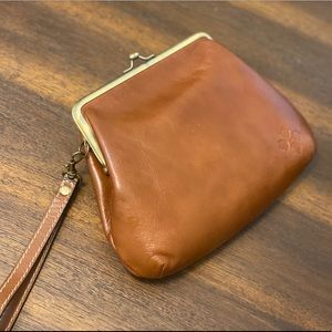 Cute genuine leather wristlet by Patricia Nash!